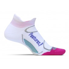 Feetures Elite Light Cushion No Show Tab - White + Periwinkle