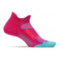 Feetures Elite Light Cushion No Show Tab - Deep Pink + Aruba Blue