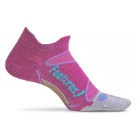 Feetures Elite Merino+ Ultra Light No Show Tab - Orchid + Sky Blue