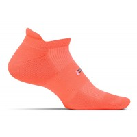 Feetures High Performance Light Cushion No Show Tab - Coral
