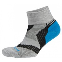 Balega Enduro V-Tech Quarter - Grey/Turquoise/Black