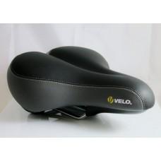 Velo 6100 Extra Comfort Wide Seat Saddle - Black, 27x23cm