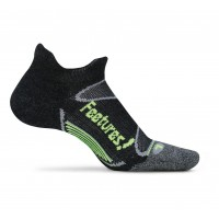 Feetures Elite Merino+ Ultra Light No Show Tab - Charcoal/Reflector