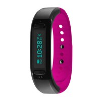 Soleus Go Activity Tracker Fitness Band - Black/Pink