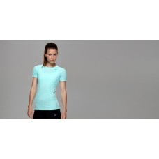 Tribe Sports Women's Short Sleeve Running Top - Turquoise